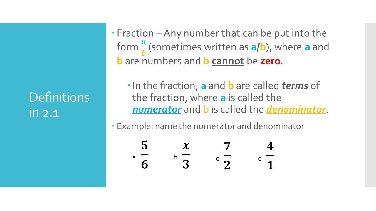 What are the fractions called 22