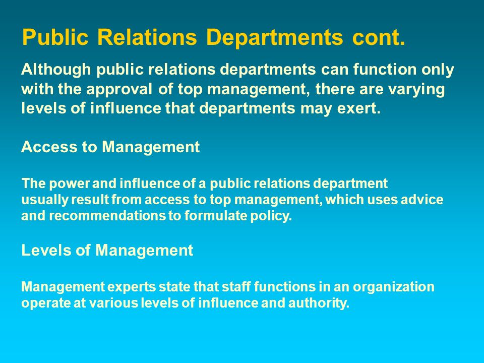 functions of public relations