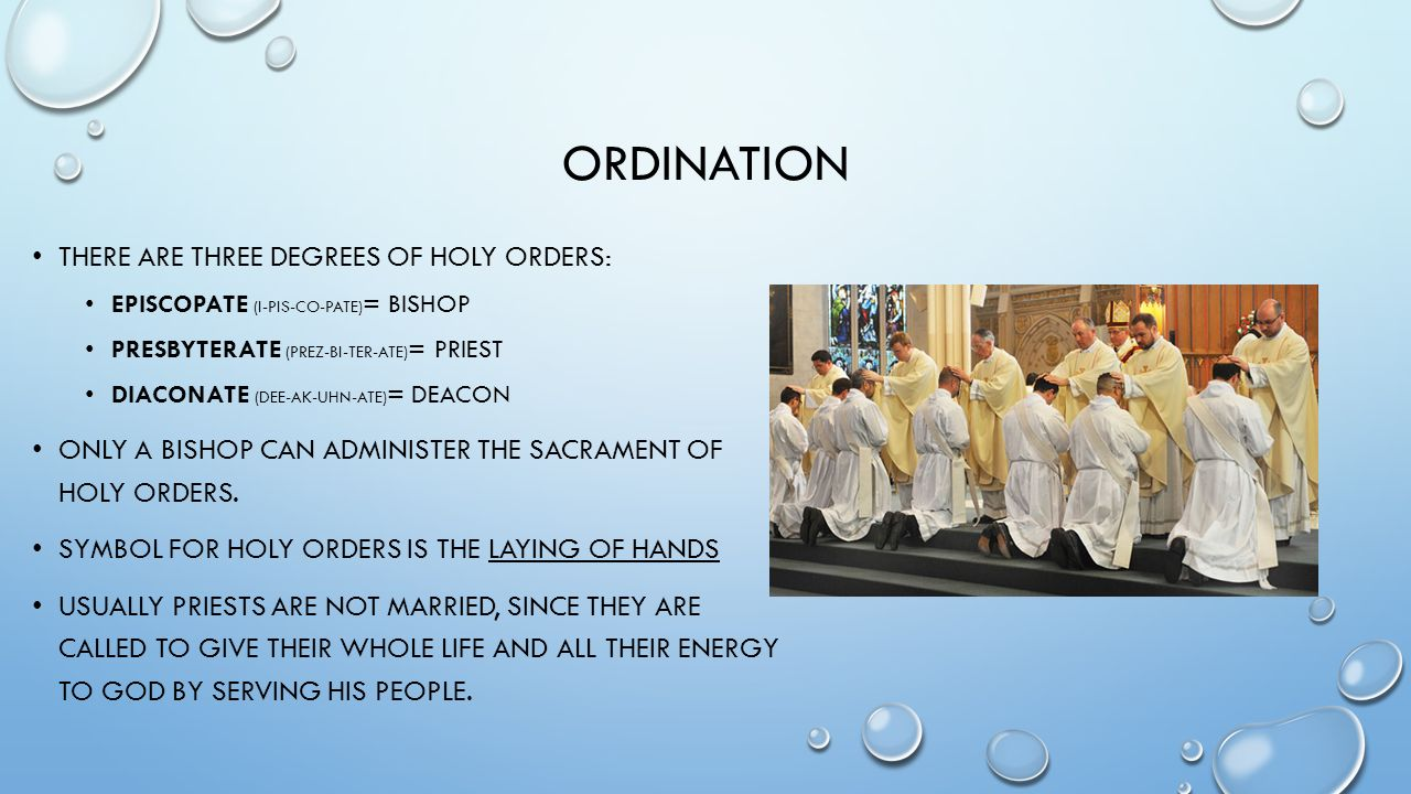 What Is Holy Orders Religion Ppt Download