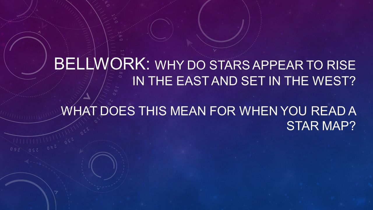 Bellwork Describe What You Learned In Your Lab Yesterday In - How to read a star map
