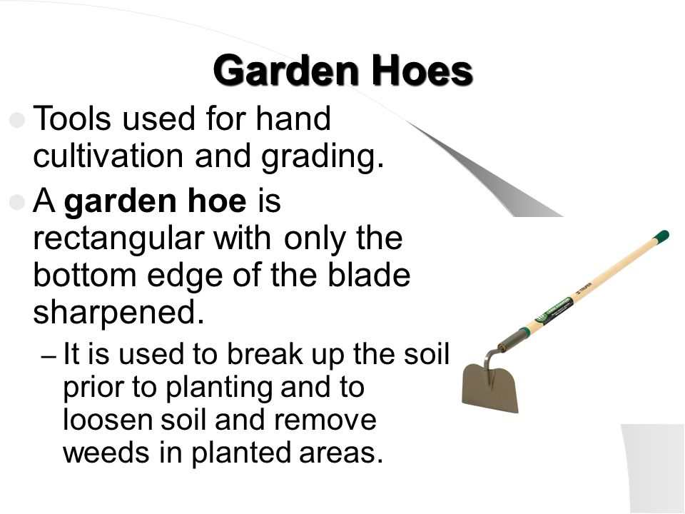 Lesson 1: Using Hand Tools effectively in Horticulture  - ppt video