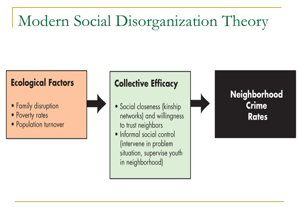 social disorganization and theories of crime and delinquency