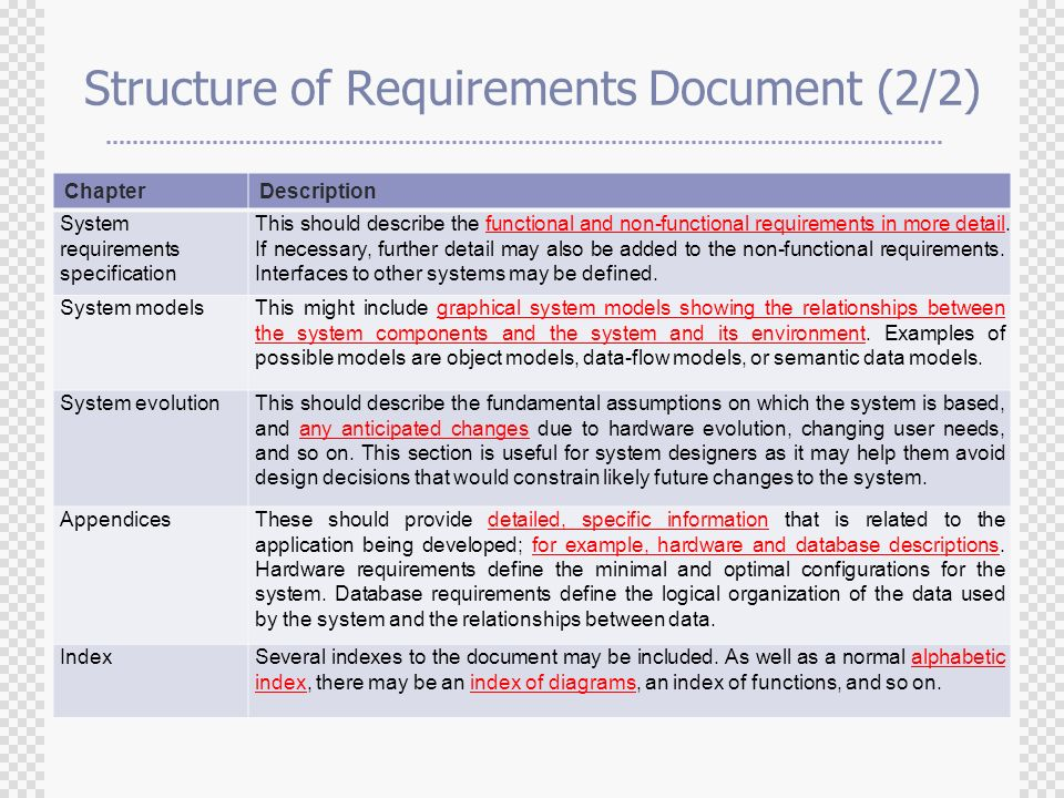 Chapter Requirements Engineering Ppt Video Online Download - Database requirements document example