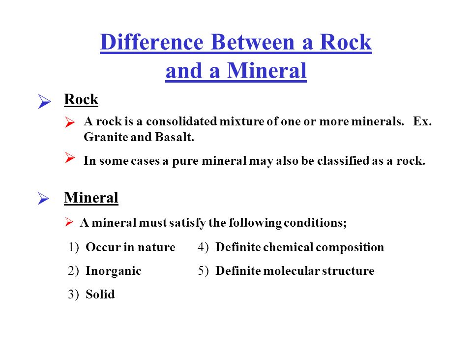 Difference Between Basalt And Granite : Difference between a rock and mineral ppt video online