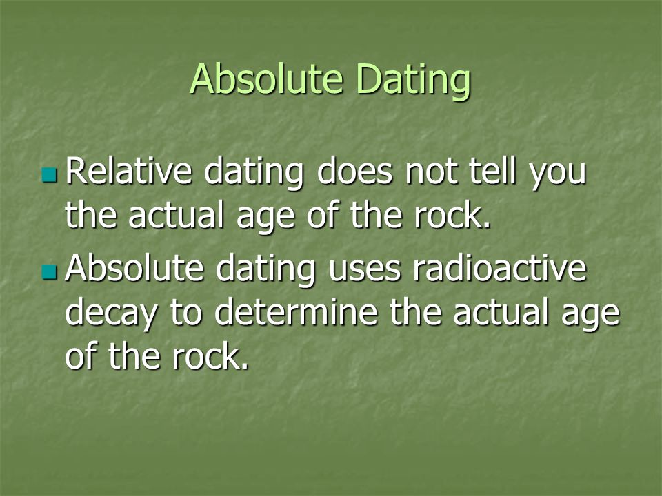 relative dating discoveries Radiocarbon dating (also referred to as carbon dating or carbon-14 dating) is a method for determining the age of an object containing organic material by using the properties of radiocarbon, a radioactive isotope of carbon.