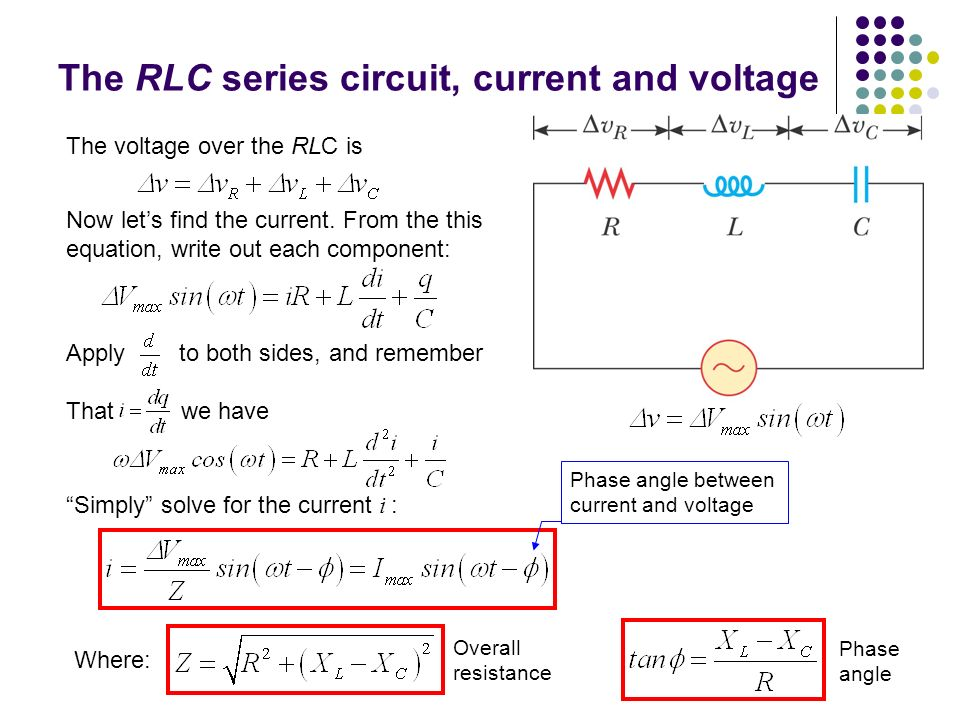 Rlc circuit current calculator
