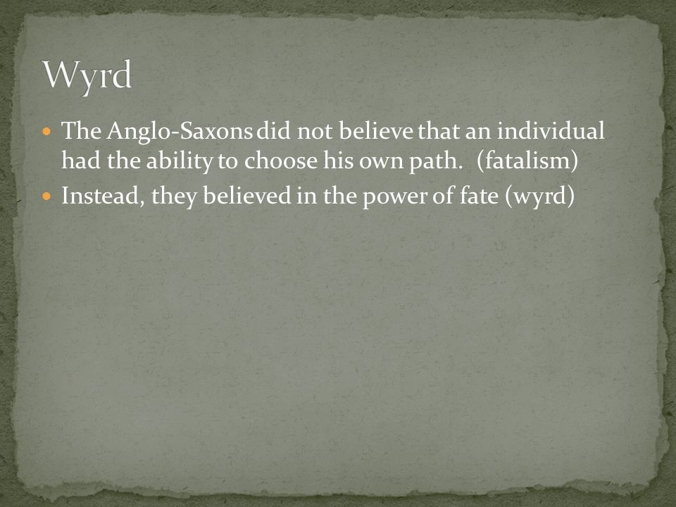 definition of wyrd in beowulf