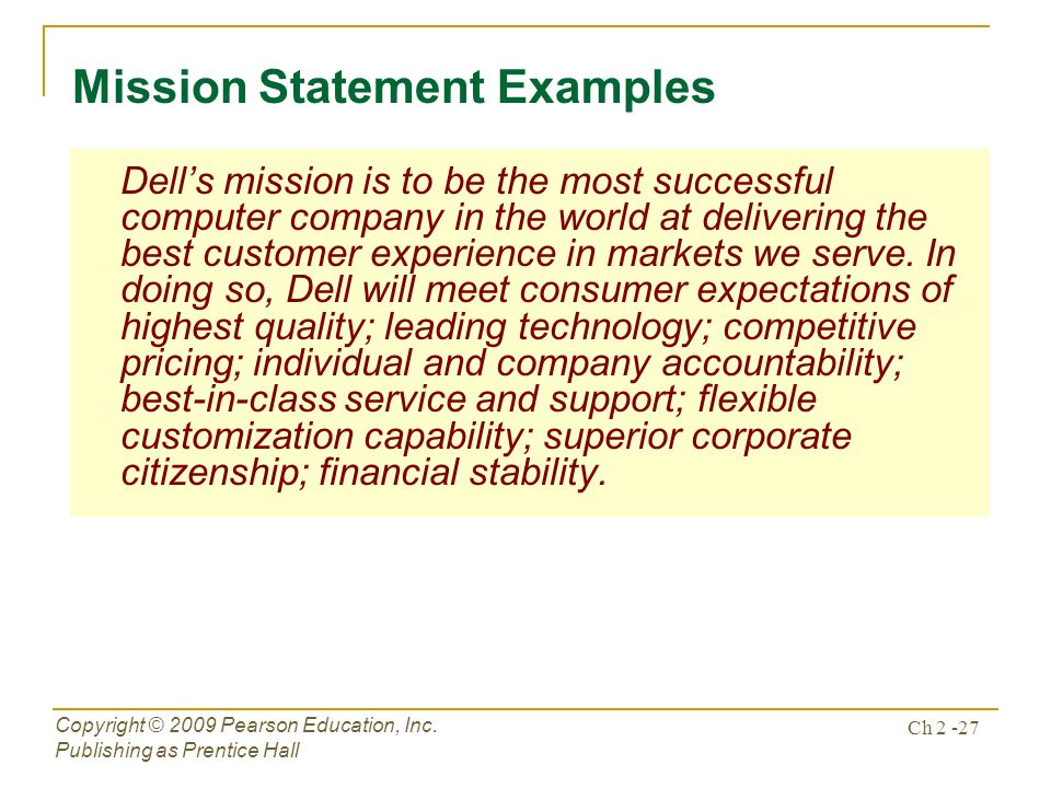 chapter 2 the business vision mission ppt download