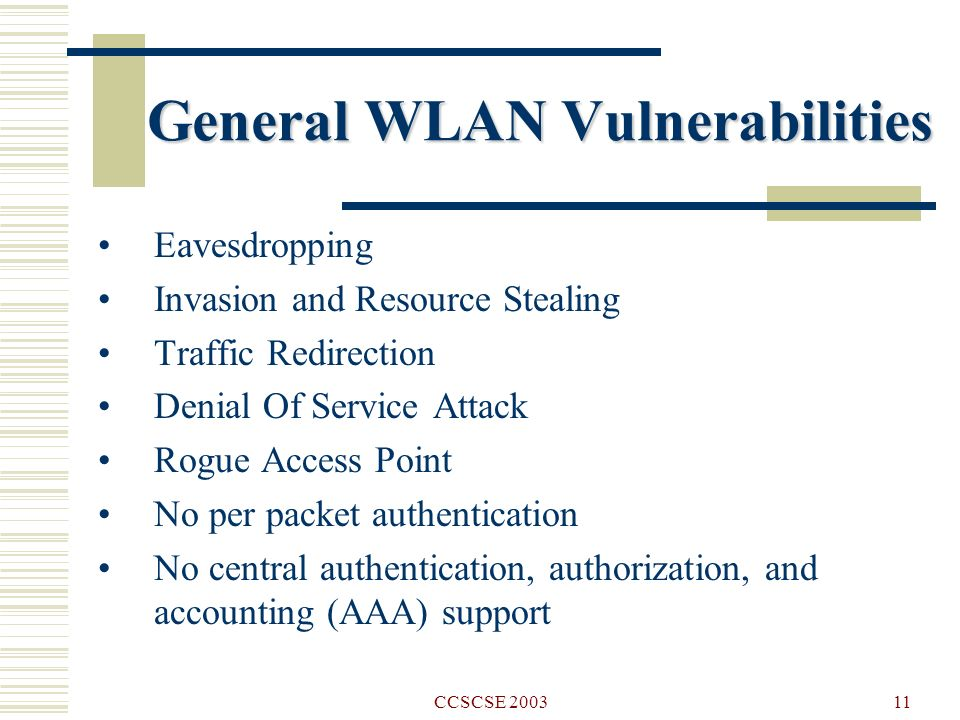 WIRELESS LAN SECURITY AND LABORATORY DESIGNS - ppt video online download
