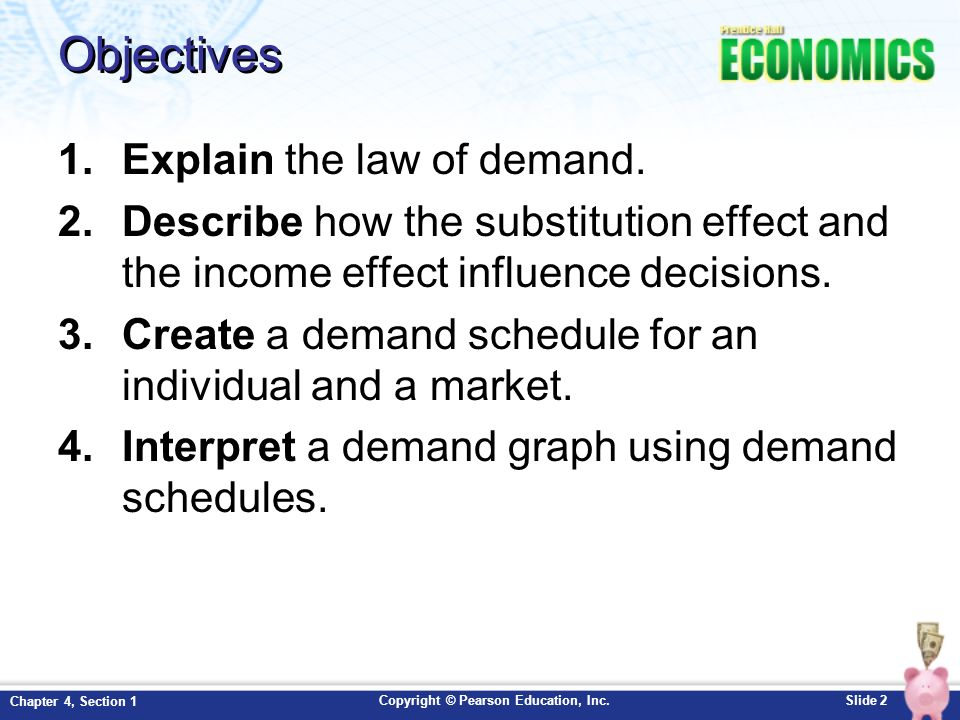 Chapter 4 Demand Section 1 Ppt Download. Objectives Explain The Law Of Demand. Worksheet. Law Of Demand Worksheet Pdf At Clickcart.co