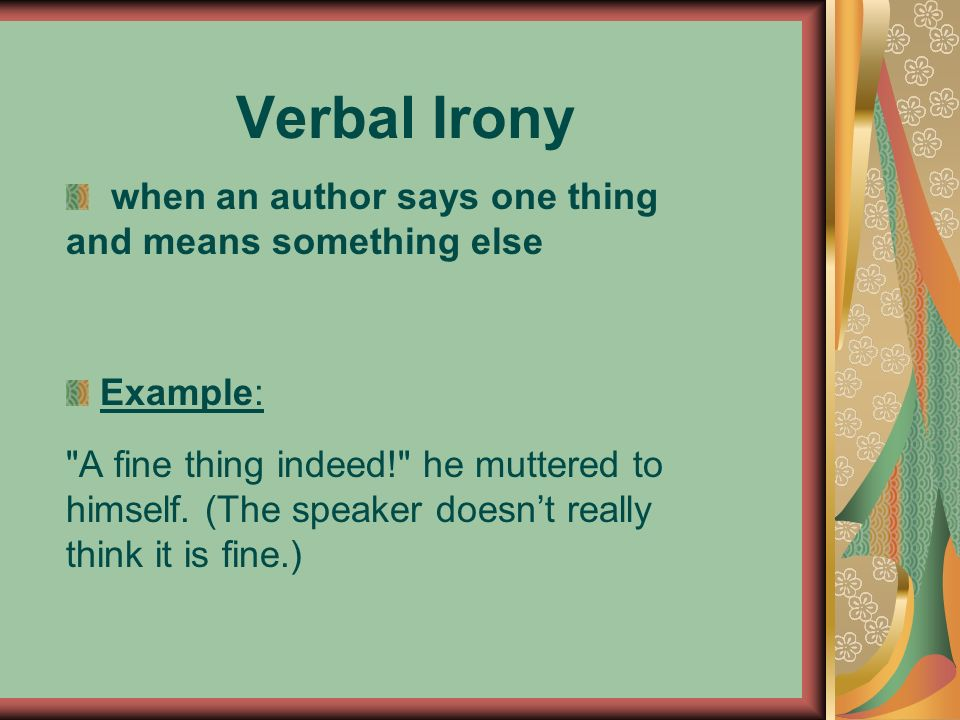 Irony Ppt Video Online Download