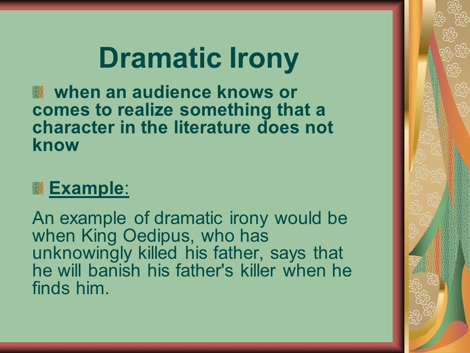 examples of dramatic irony in oedipus the king