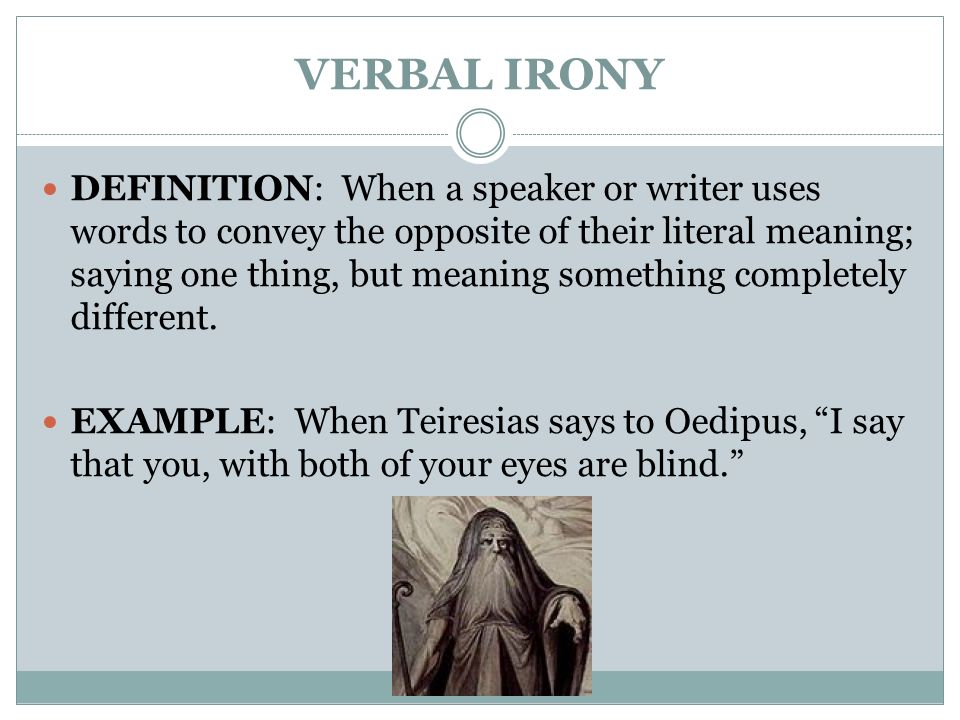 what is verbal irony in literature