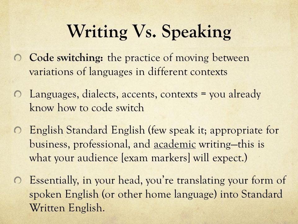 spoken english vs written english