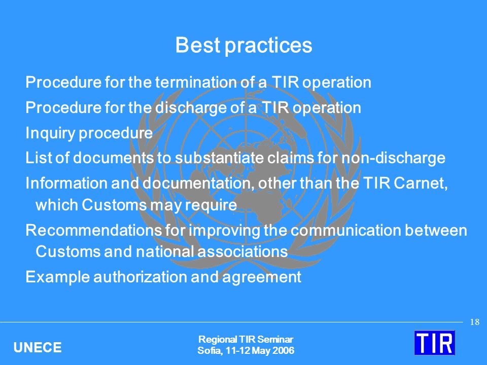 Regional Tir Seminar Sofia 11 And 12 May Ppt Download