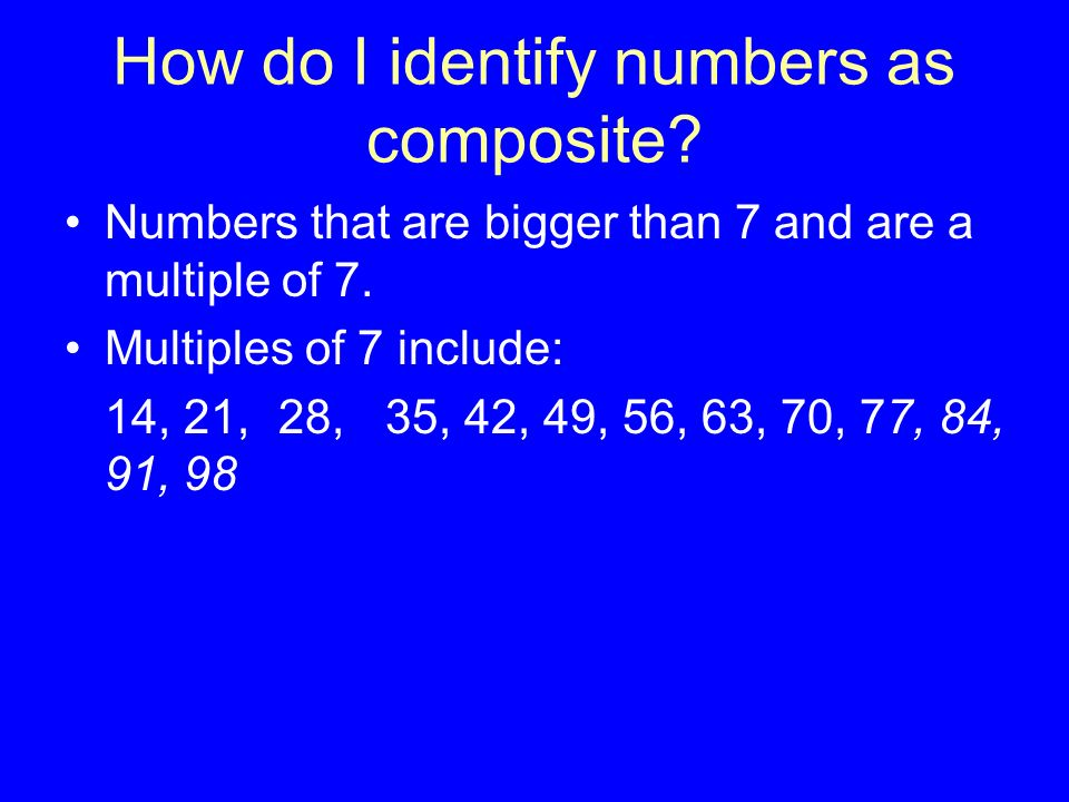 Composite Numbers Miss Hartgrove Hanes Middle School ppt