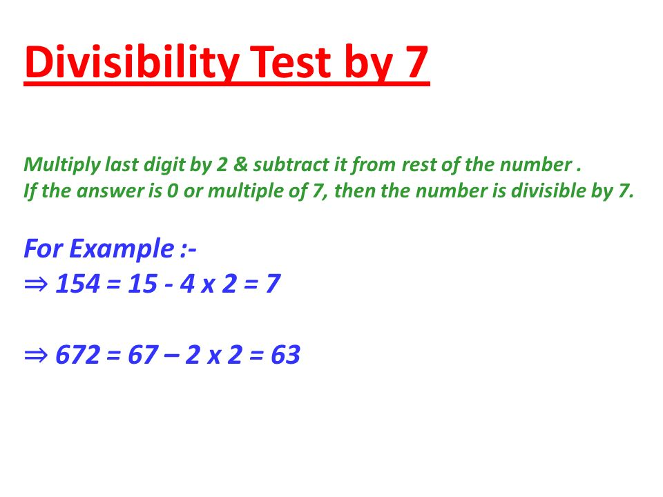 Divisibility Test For Different Numbers Ppt Video Online Download