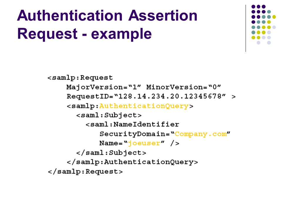 An XML based Security Assertion Markup Language - ppt video online