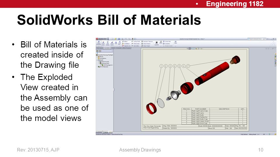 Working / Assembly Drawings - ppt video online download