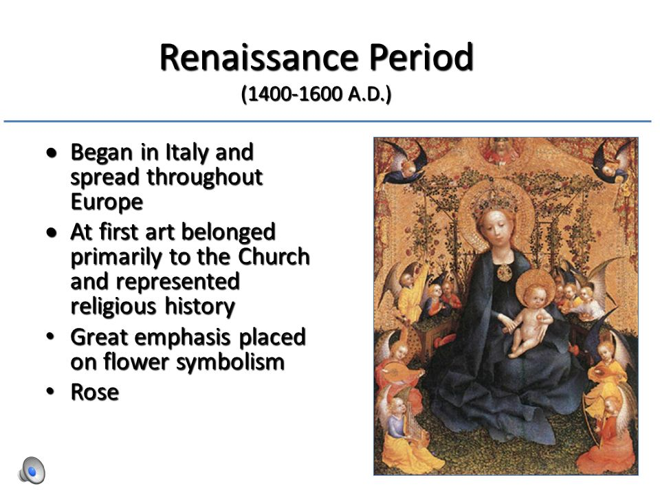 the important ideas during the renaissance period The renaissance period: 1550-1660 literature and the age in a tradition of literature remarkable for its exacting and brilliant achievements, the elizabethan and early stuart periods have been said to represent the most brilliant century of all.