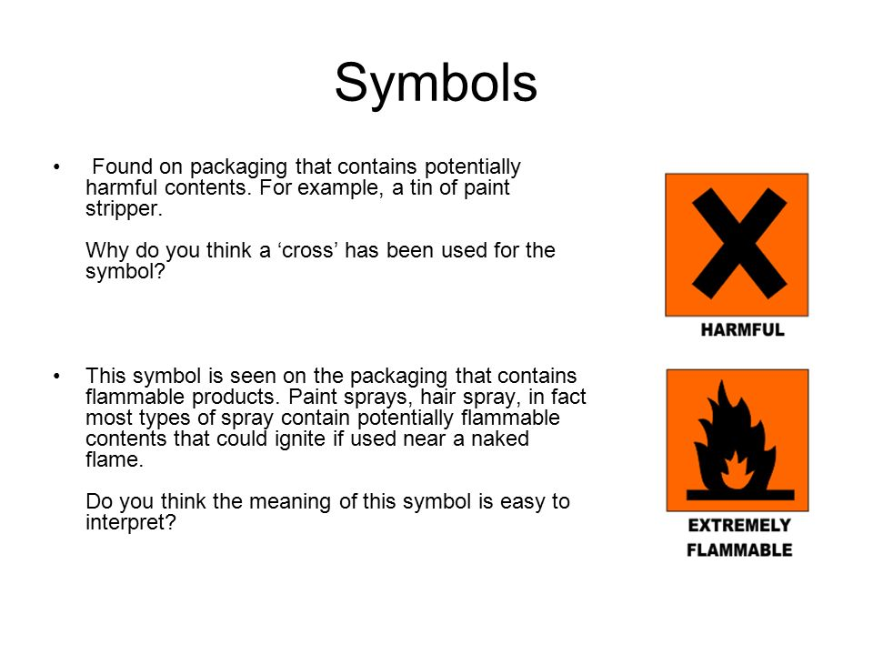 Symbols Packaging Below Are A Number Of Symbols Often Seen On