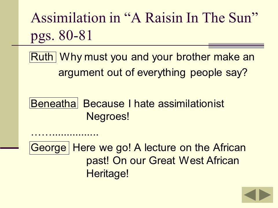 Assimilation And And By Lorraine Hansberry Ppt Video Online Download