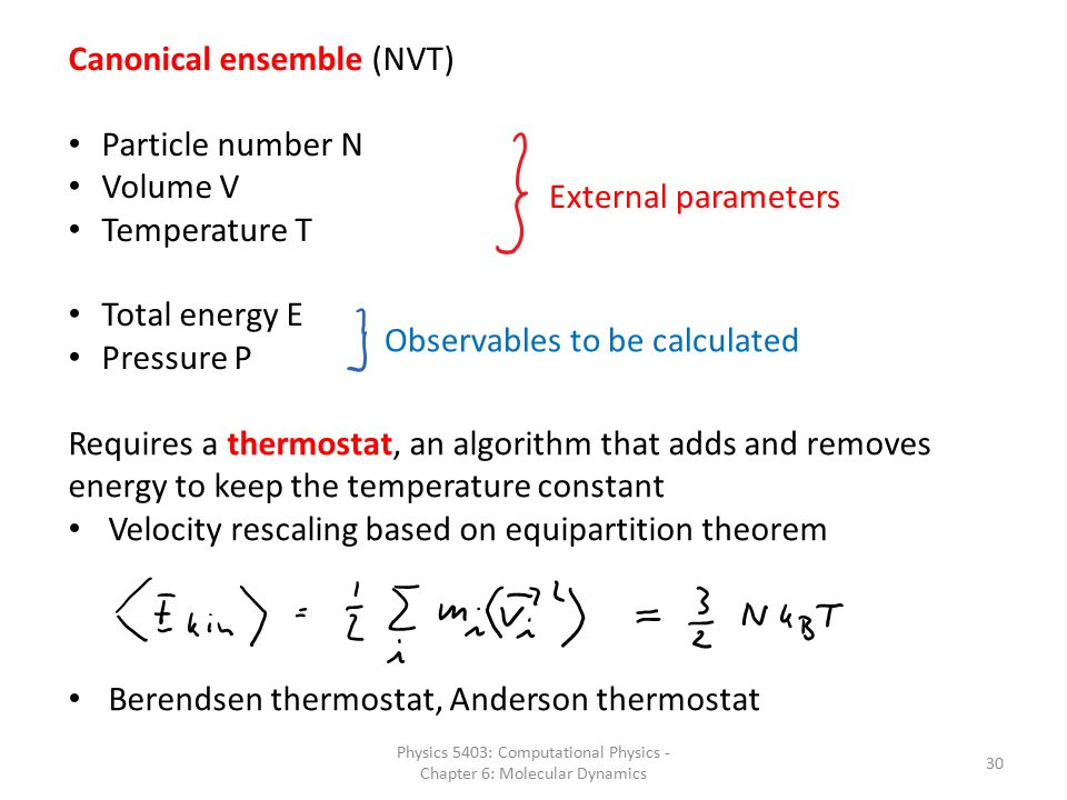 Chapter 6: Molecular Dynamics - ppt video online download