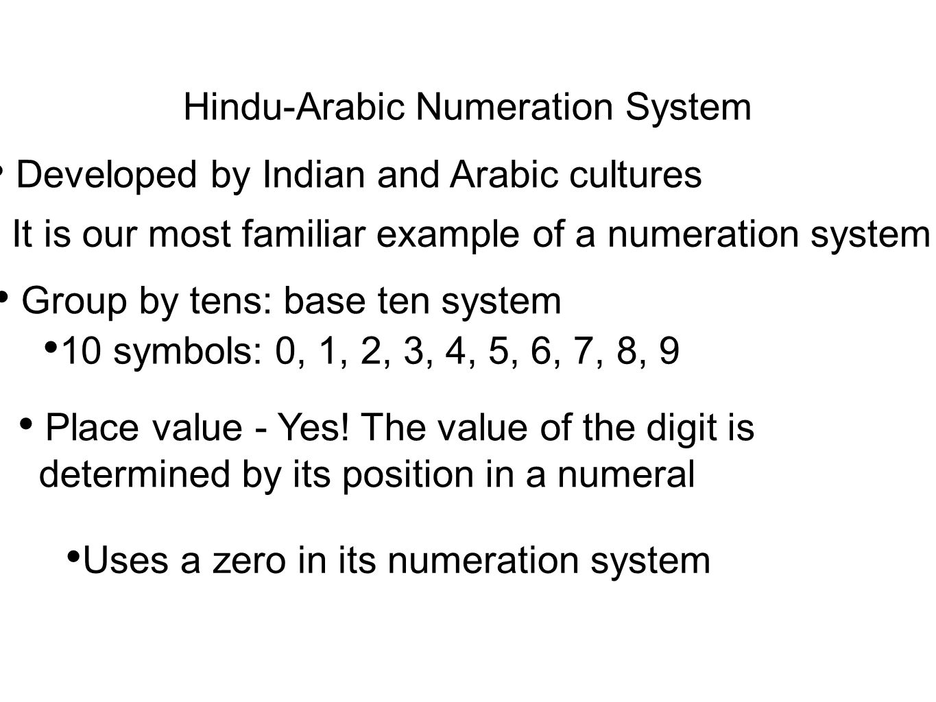 Arabic numerals: definition, history & example | study. Com.