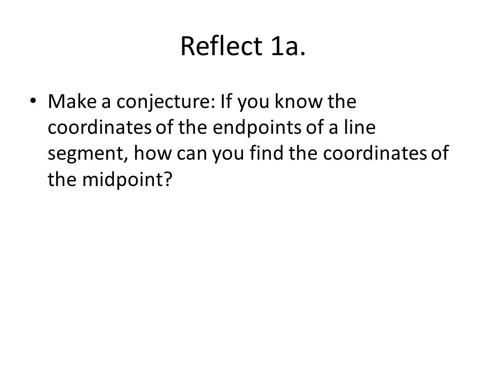 how to calculate points if you know midpoint