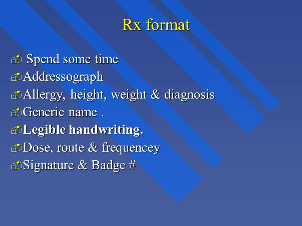 Rx format Spend some time Addressograph