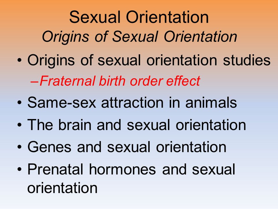 Birth order affects sexuality