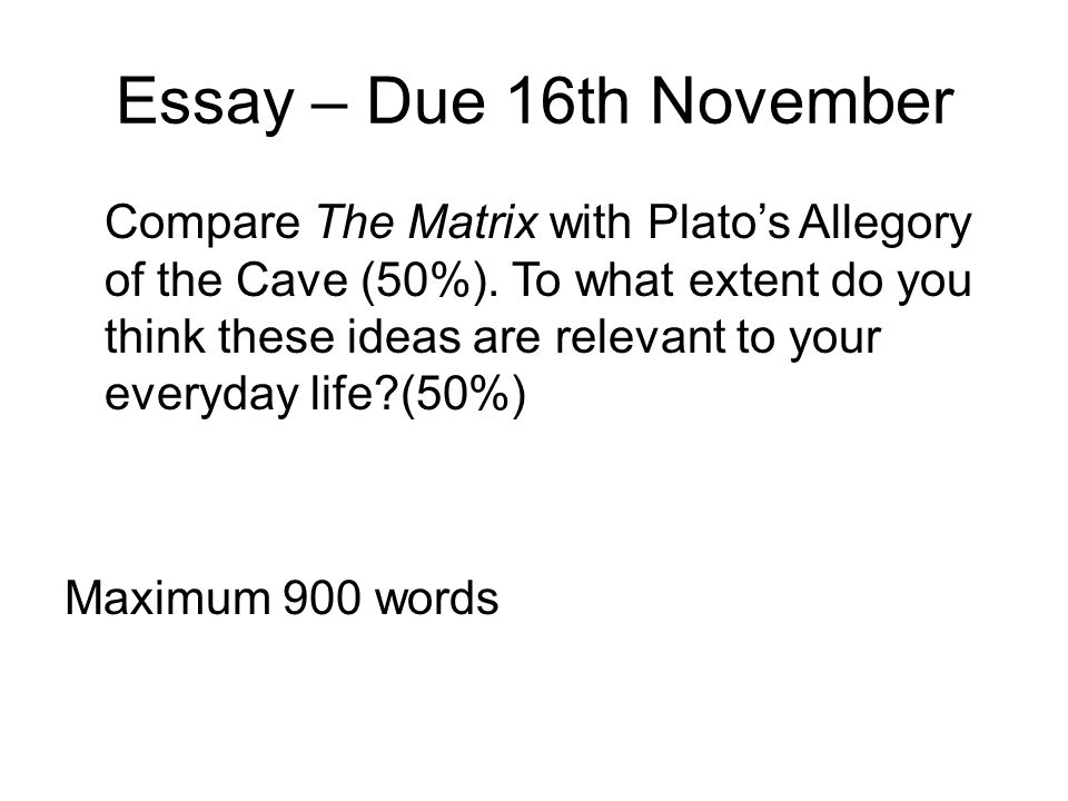 the allegory of the cave 50 essays answers