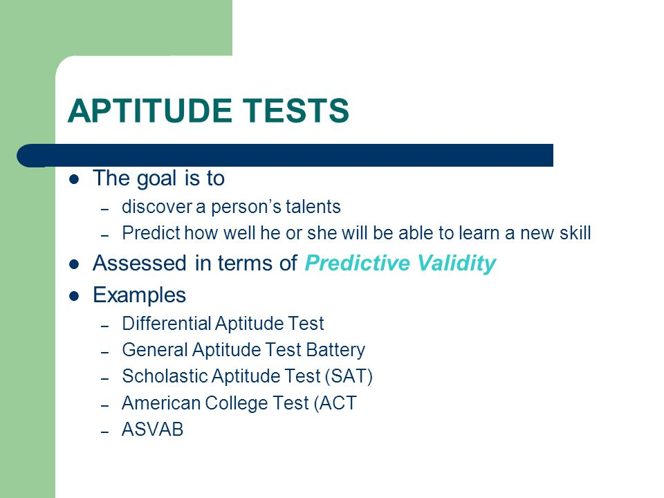 measuring achievement abilities and interests ppt download