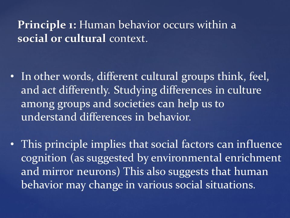 examples of human behavior patterns