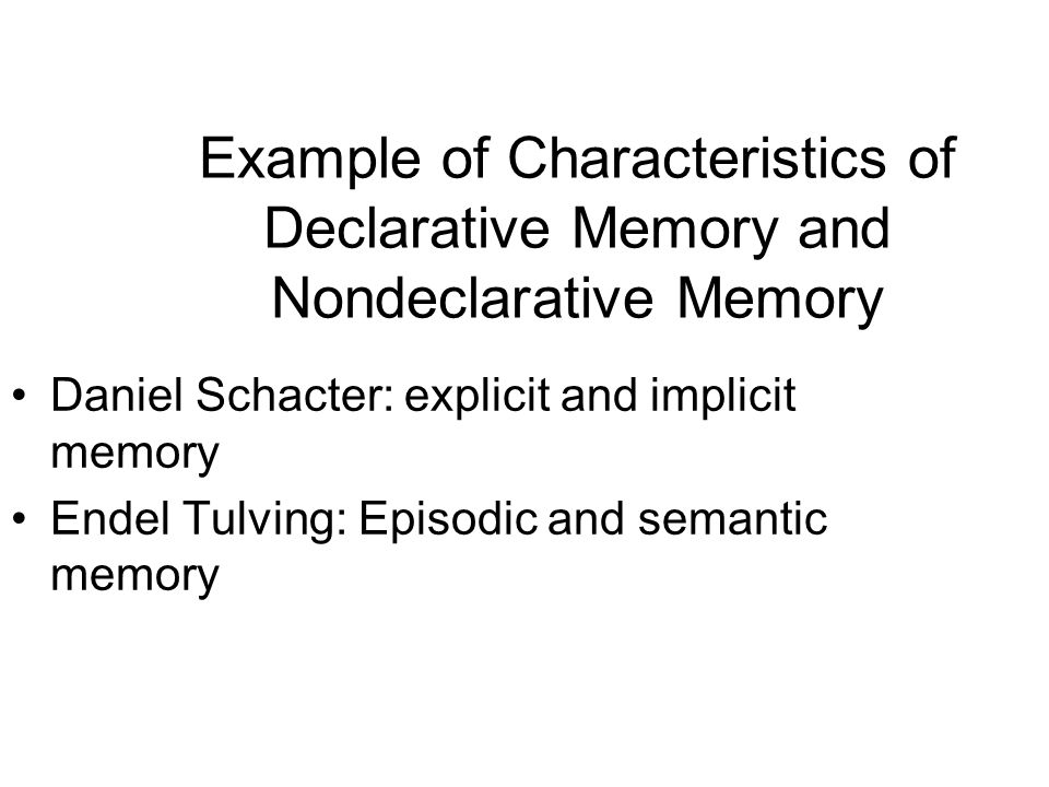 Multiple Memory System In Humans Ppt Video Online Download