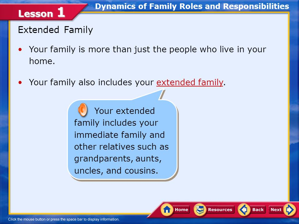 who is your immediate family