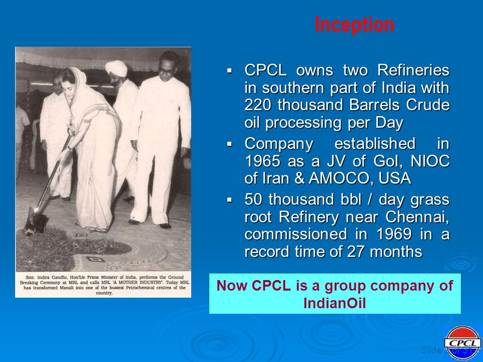 Experience of an Indian Refinery - ppt video online download
