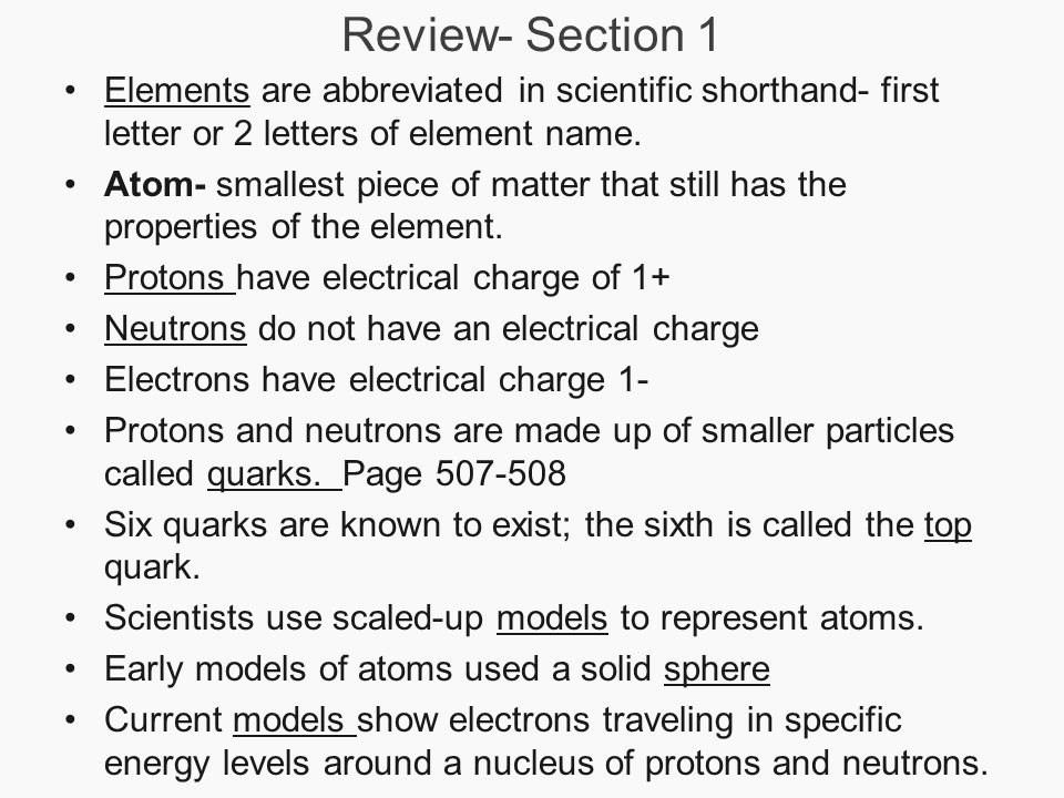 Chapter 17 properties of atoms and the periodic table section 3 3 review section 1 elements urtaz Choice Image