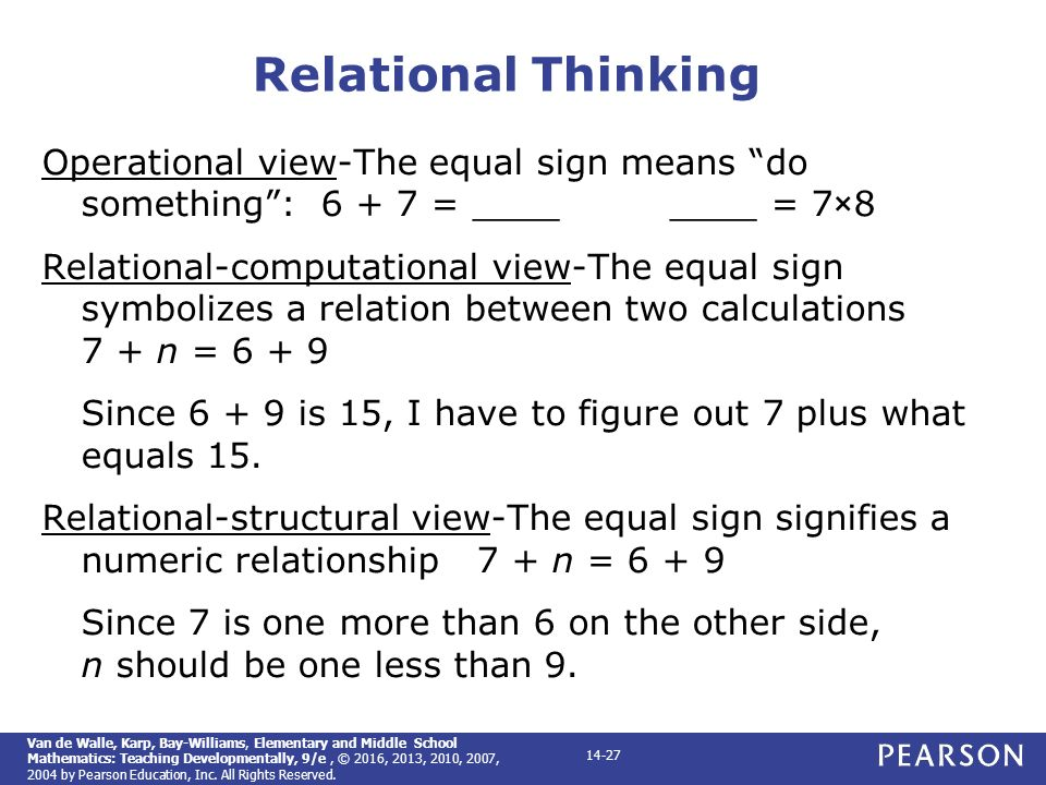 Elementary and middle school mathematics teaching developmentally 27 relational thinking operational fandeluxe Image collections
