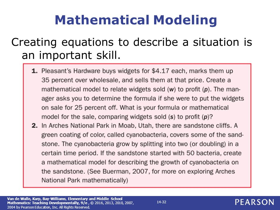 Elementary and middle school mathematics teaching developmentally 32 mathematical modeling fandeluxe Image collections