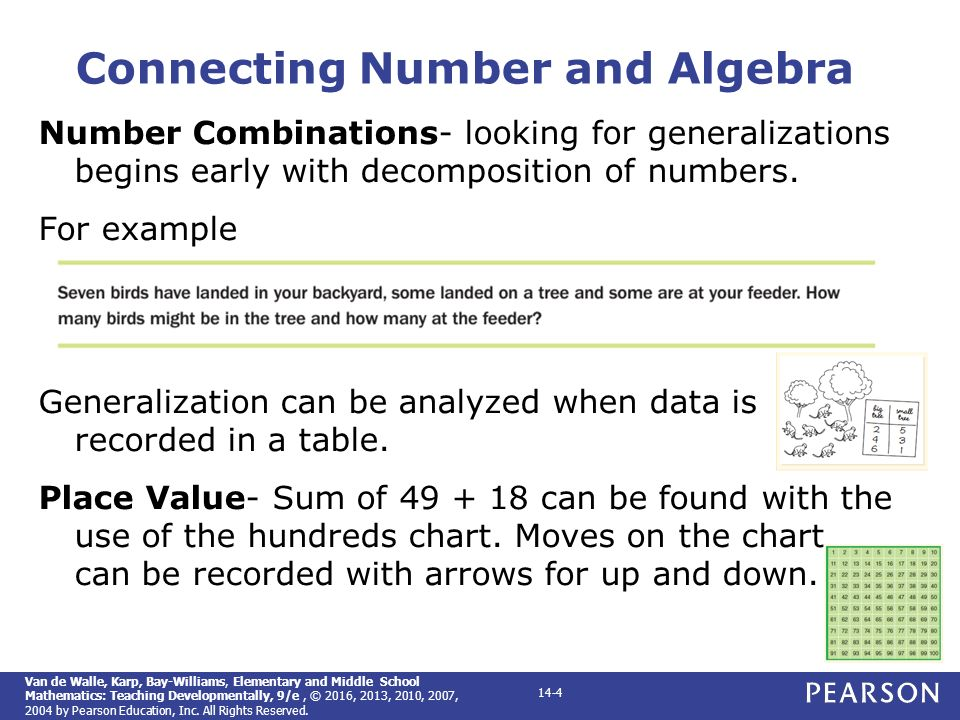 Elementary and middle school mathematics teaching developmentally 4 connecting number and algebra fandeluxe Image collections
