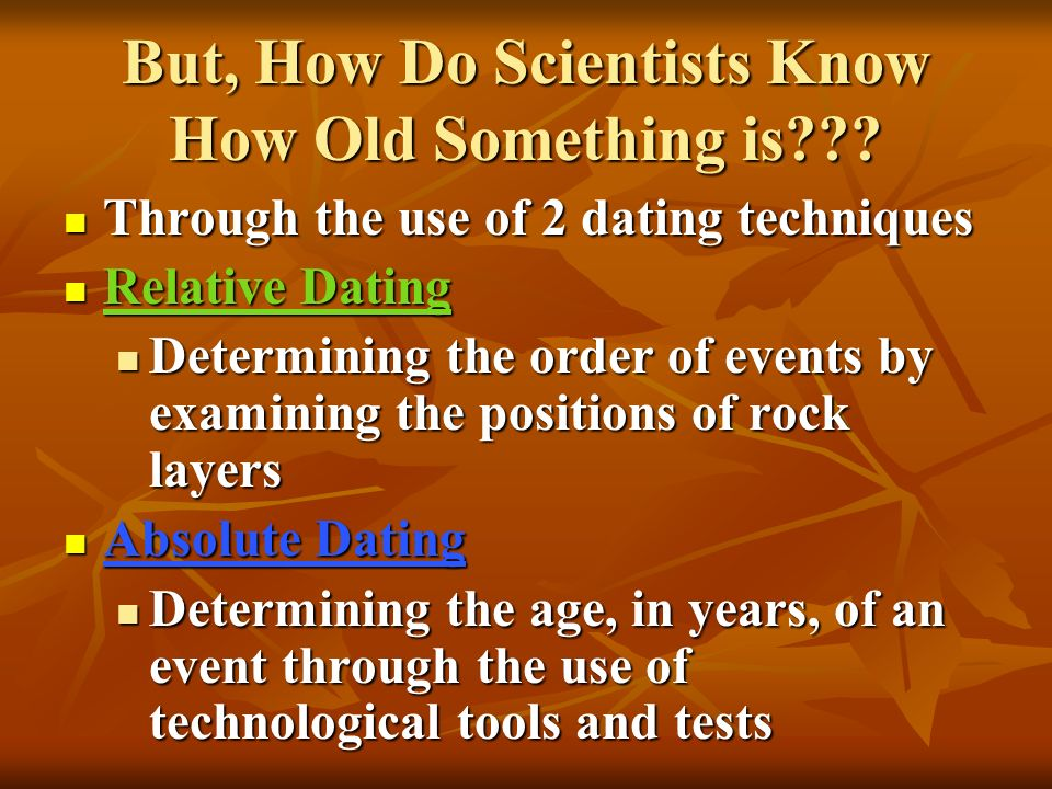 different dating techniques used by scientists eden ang and audrey dating