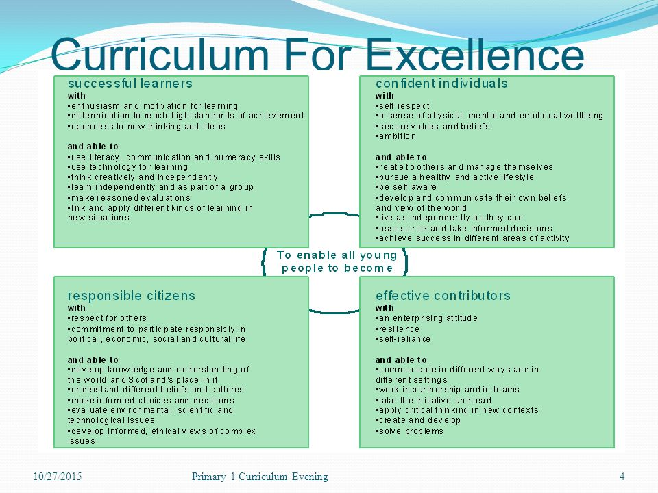 4 Curriculum For Excellence