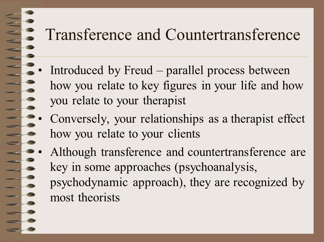Transference and countertransference in psychodynamic approaches to counselling