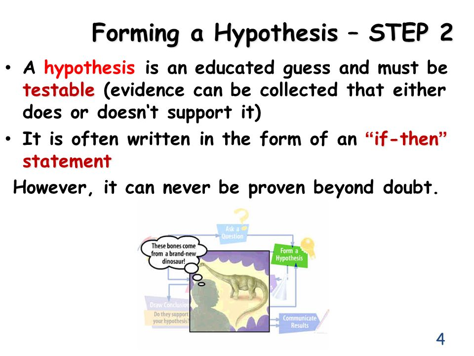 Forming a Hypothesis – STEP 2