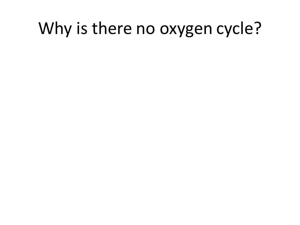 Why is there no oxygen cycle