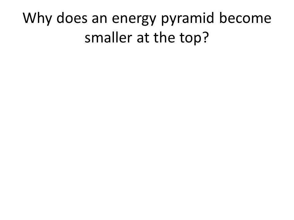 Why does an energy pyramid become smaller at the top