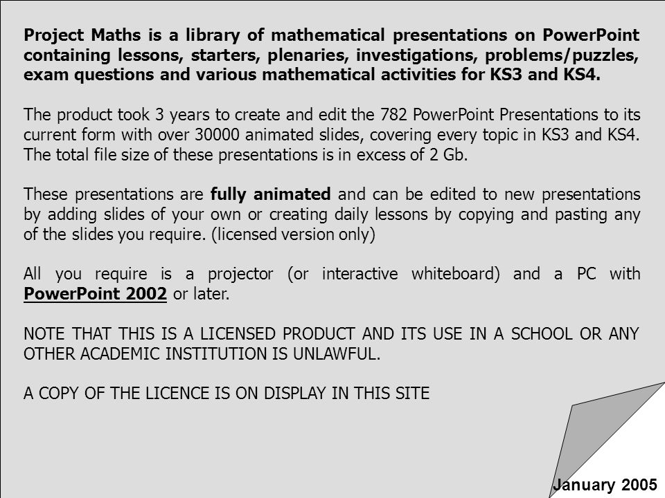 Project Maths By Trifon Madas January ppt video online download