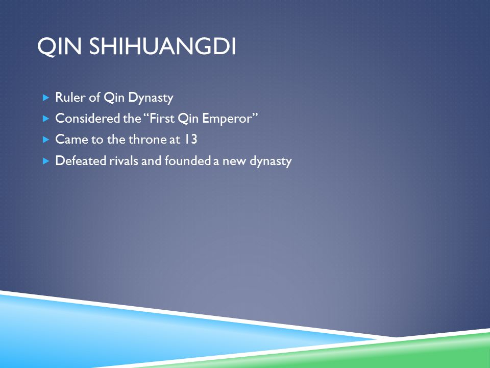 Qin Shihuangdi Ruler of Qin Dynasty Considered the First Qin Emperor