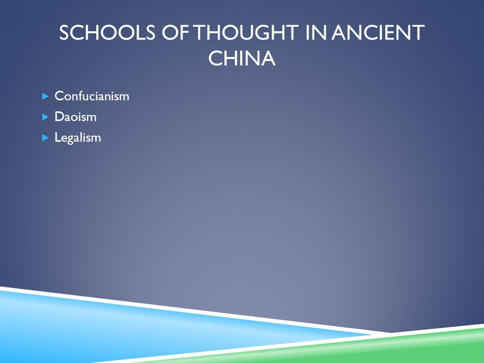 Schools of Thought in Ancient China